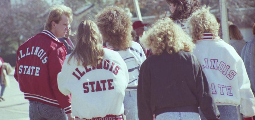 Students at Homecoming 1990