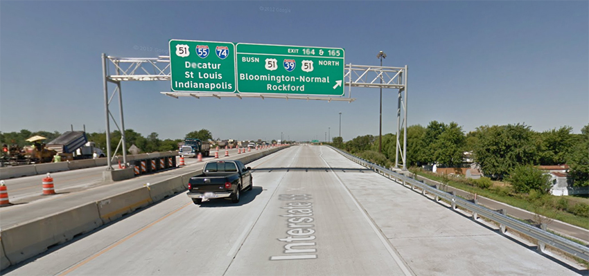 I-55 exit for Normal