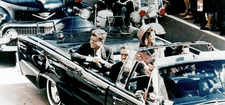 JFK in the limousine