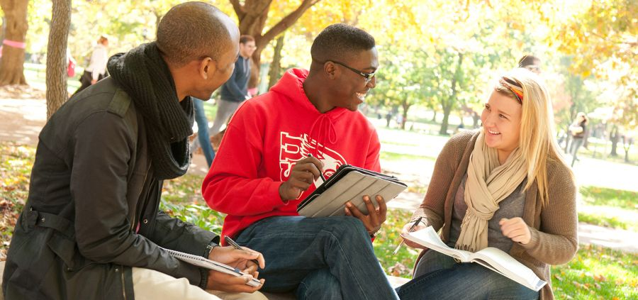 image of students on the Quad