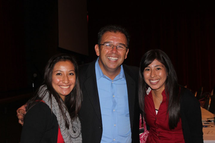 Juan with students