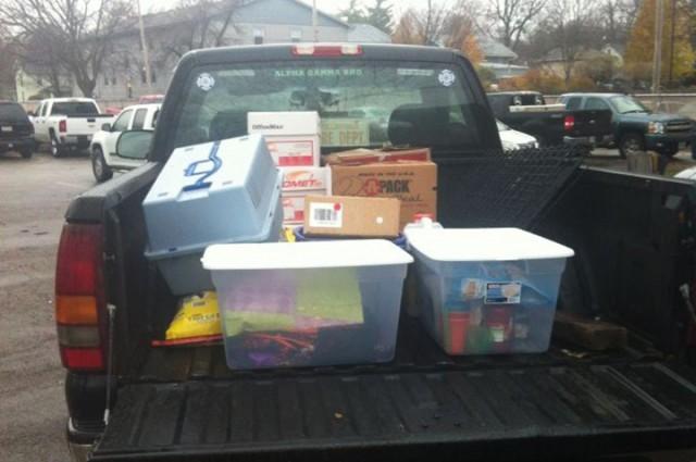 AT tornado donations truck