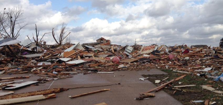Erin Templeton's flattened home