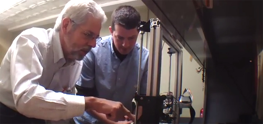 Dave and Rob work with 3-D printer