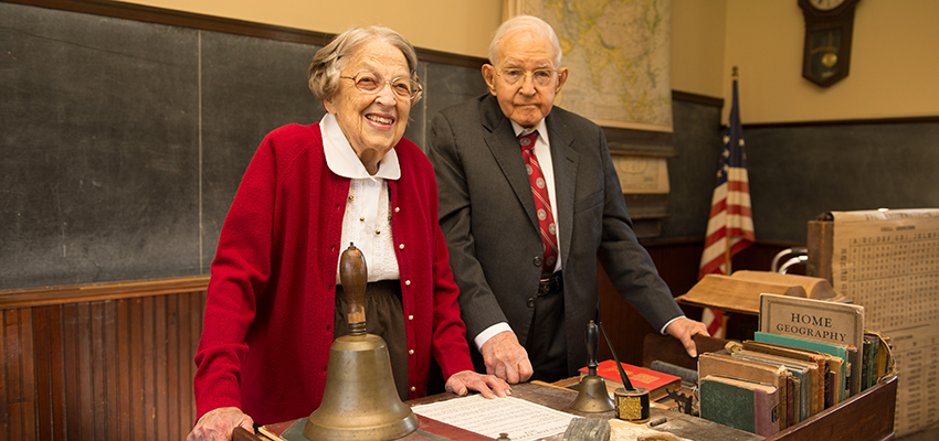 Ruth Ryder and Roy Schilling at Eyestone school