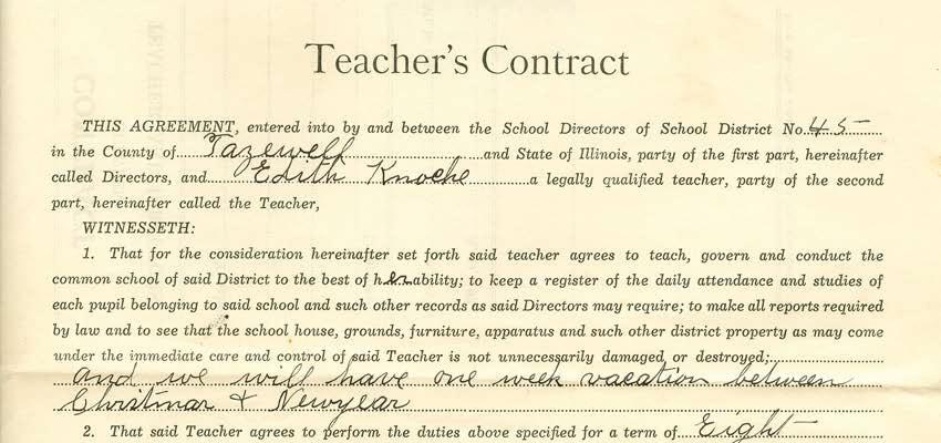 Teachers contract