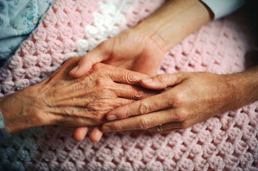image of caring for elderly