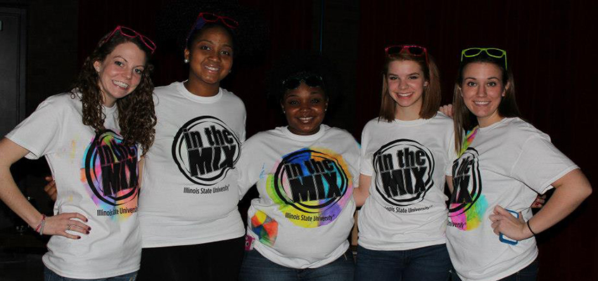 Students at last year's In the Mix event
