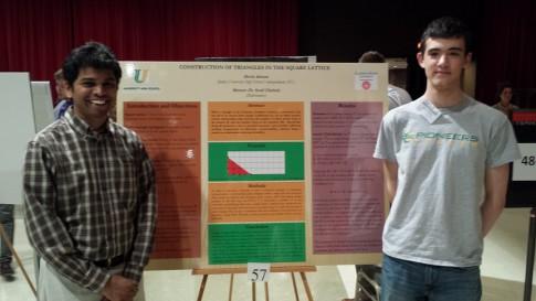 2014 Math Symposium showing Devin Akman and Sunil Chebolu