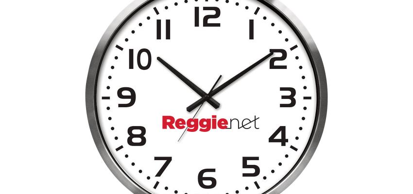 A clock with ReggieNet logo!
