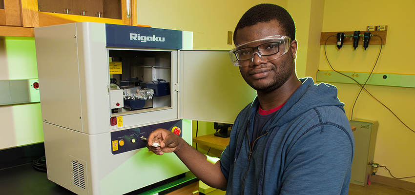 Subomi Aregbesola in a lab