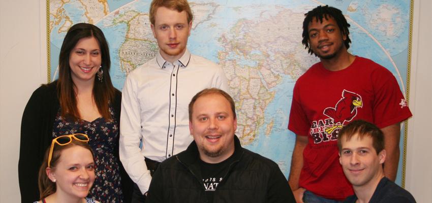 image of iHouse students and Matt Schwab