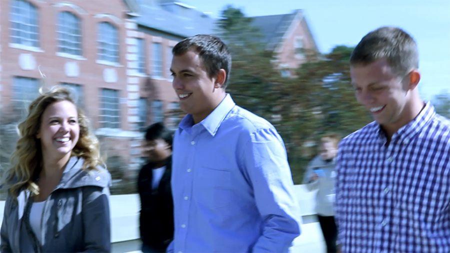 Danielle, Zach, and Alex Levi walking