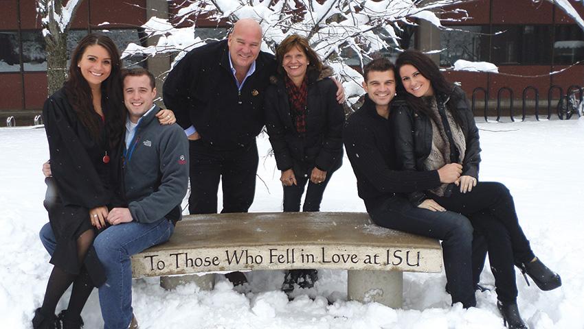 Hoss family poses at ISU