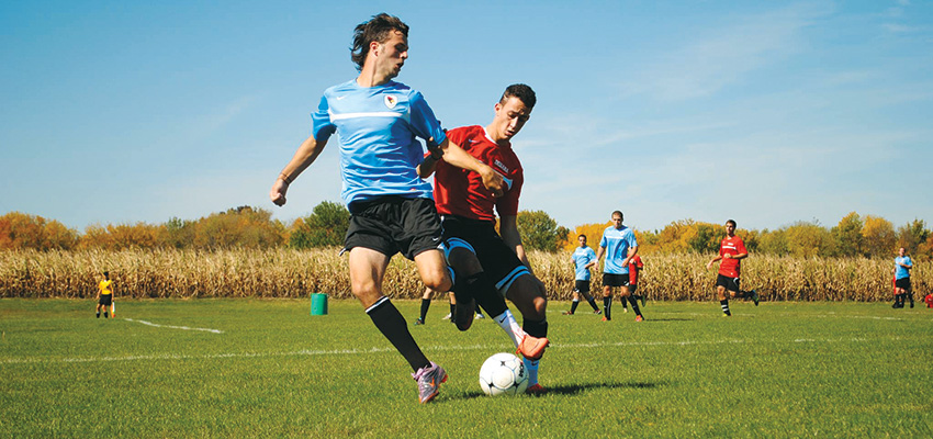 Illinois State men's club soccer game