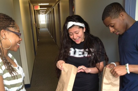 RA delivers kits to residents