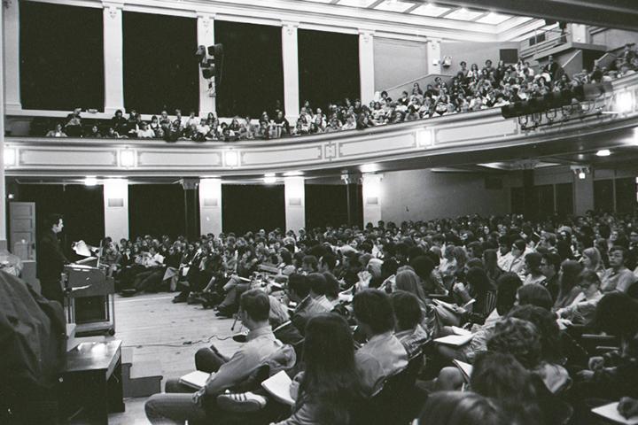 Capen Auditorium in 1971