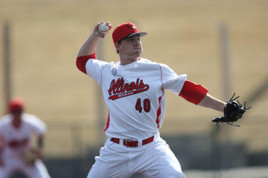 Jeremy Rhoades pitches