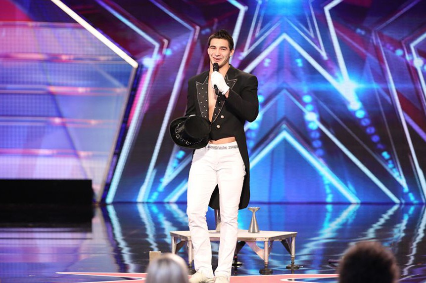 """Christian Stoinev during his """"America's Got Talent"""" audition"""