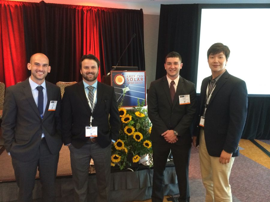 Students and professor at Solar 2014