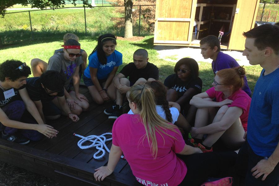 students at Camp LEAD