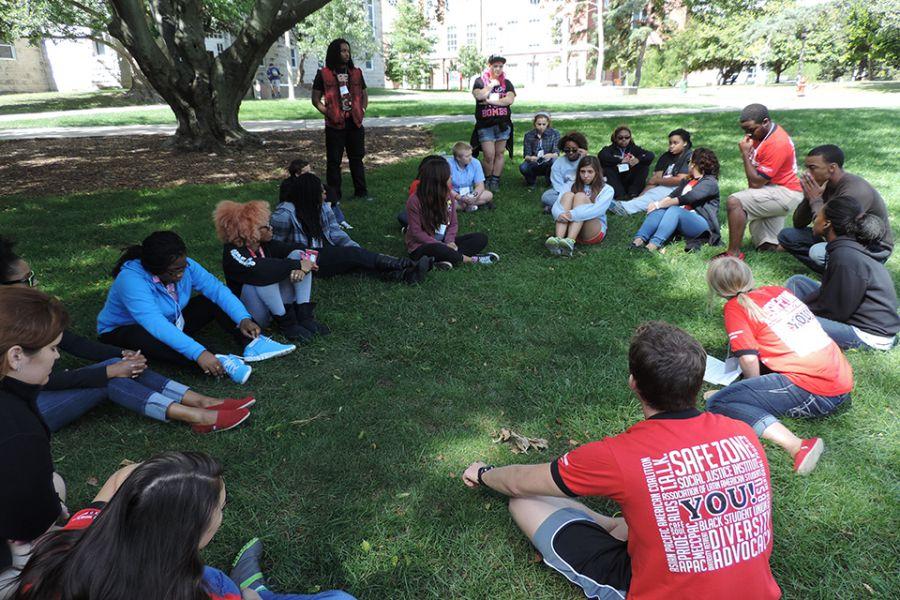 Students at diversity retreat