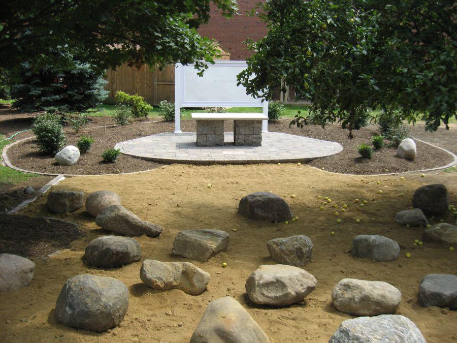 Outdoor classroom at Metcalf School