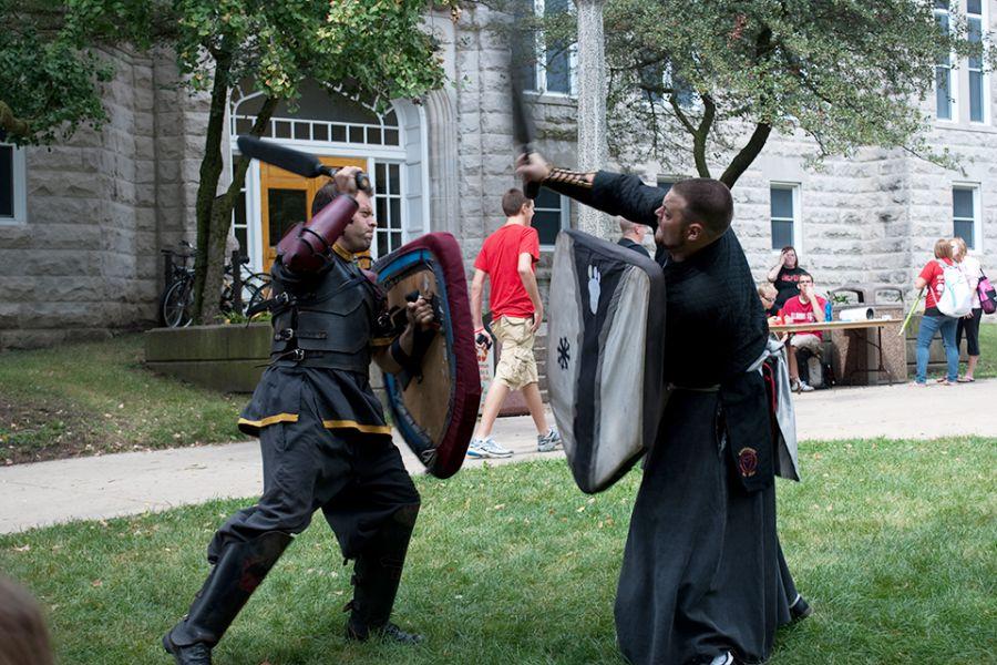 Medieval Combat Club members fight