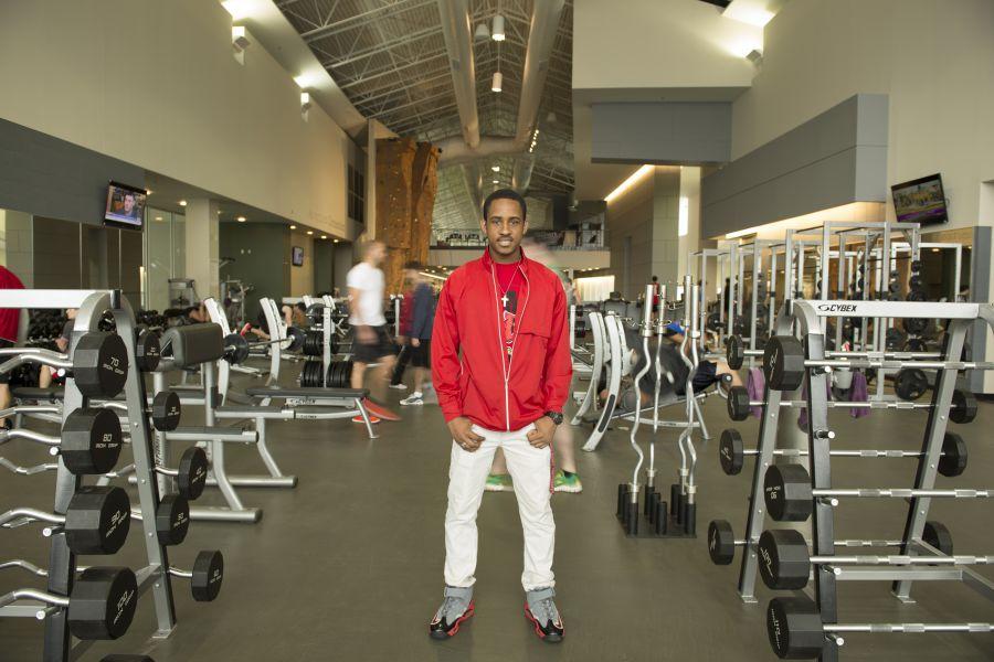 Jaylon Joyner at the fitness center