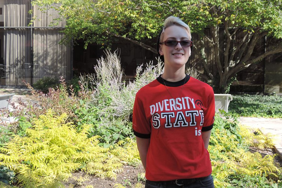Katie, the president of Pride at Illinois State