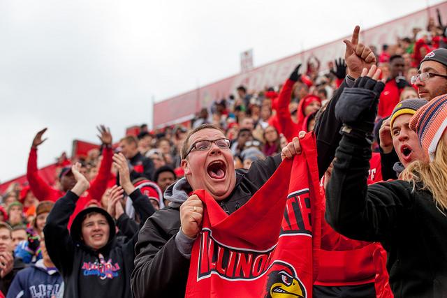 Fans cheer at Hancock