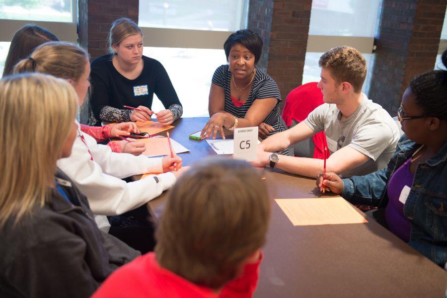 Students at ISU's Human Library