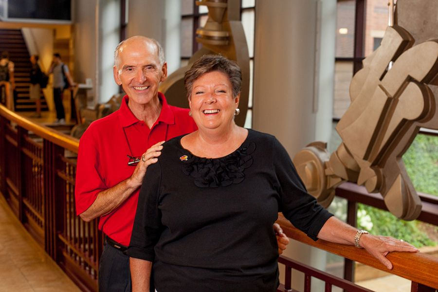 Jim and Deb Riggs pose