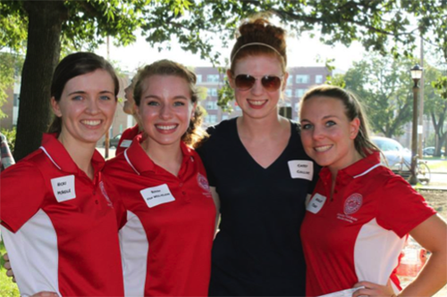 Student leaders from the Illinois State Honors Program