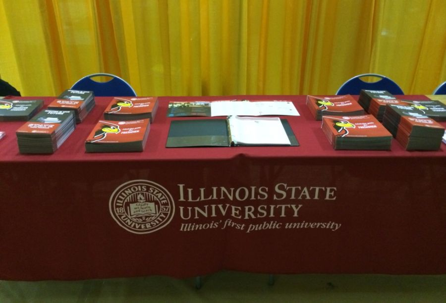 ISU table at a college fair