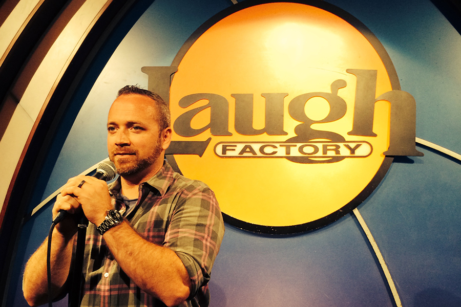 Steve Rice onstage at Laugh Factory