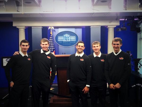 Redbird men's golf team visited the White House