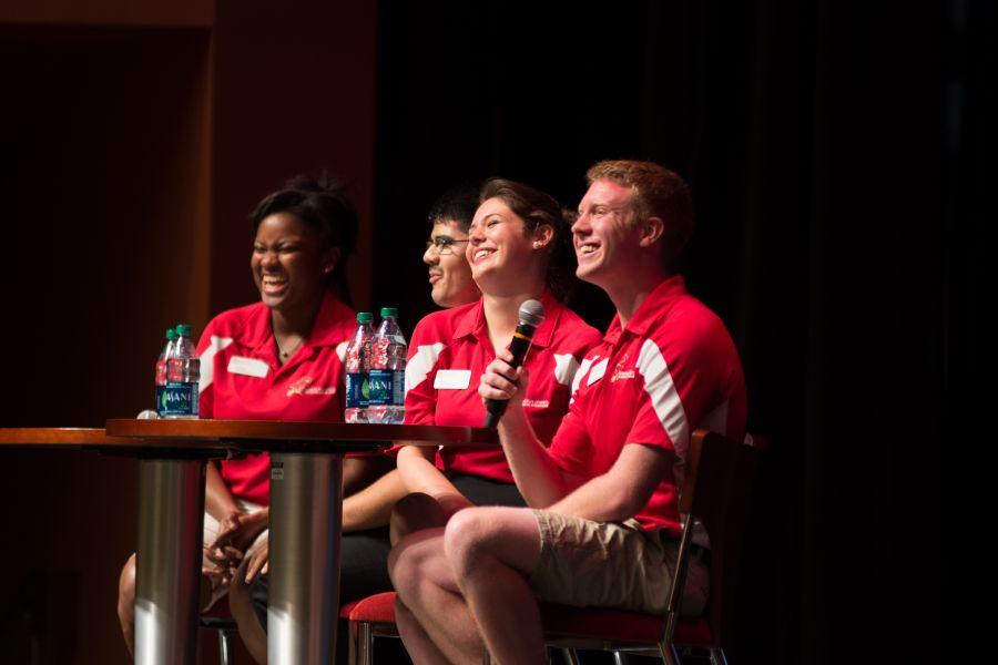 Current students talk to future Redbirds