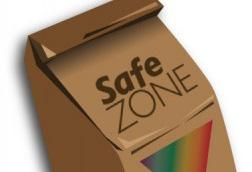iameg of Safe Zone brown Bag logo