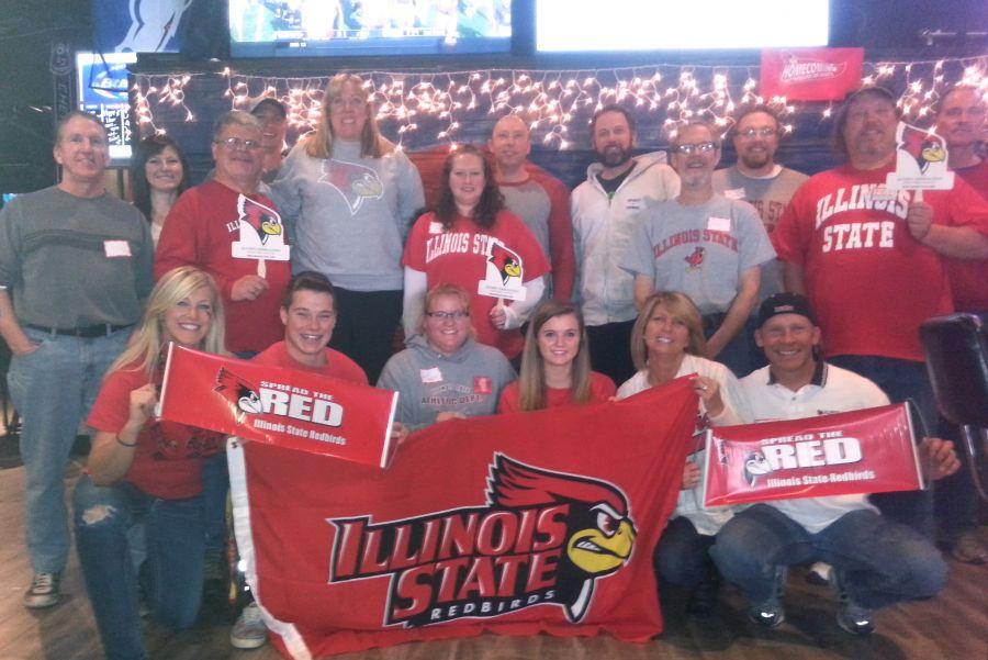 alumni at the Redbird watch party