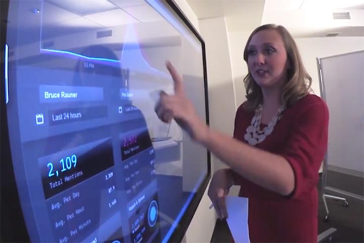 Kristi (O'Connor) Demonbreun at a screen