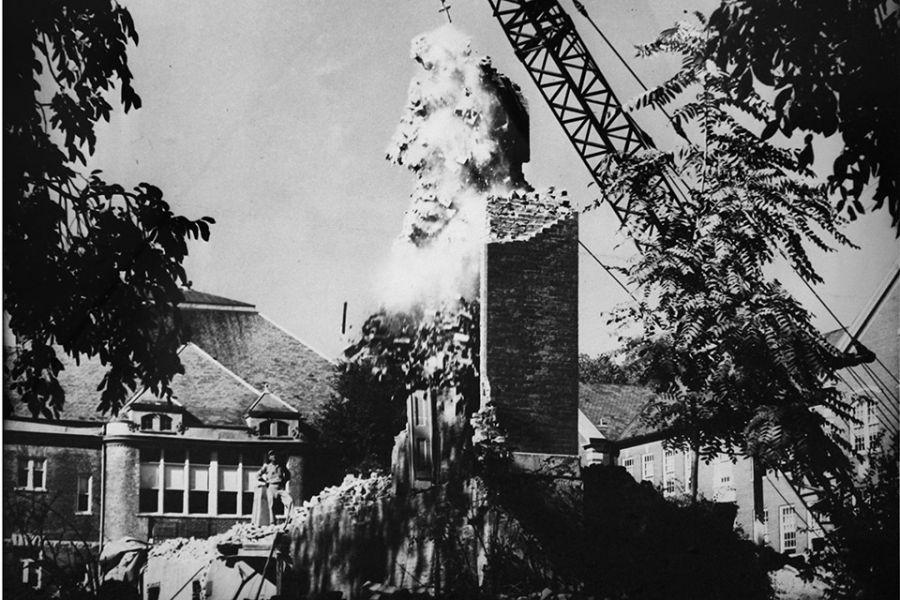 Old Main demolition