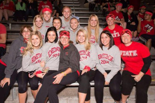 Students and faculty at the Redbird Rumble