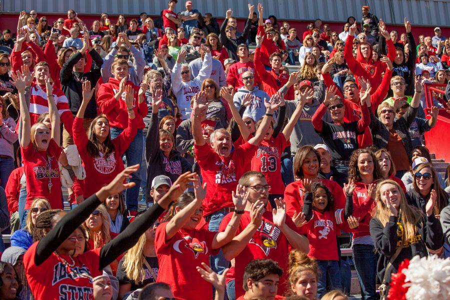 Crowd at Redbird football game