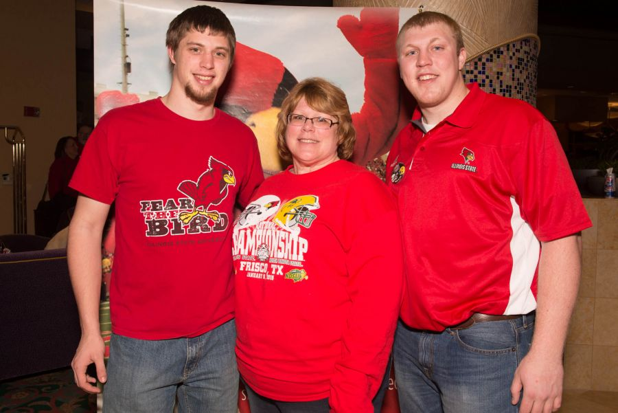Julie Scholl and her sons