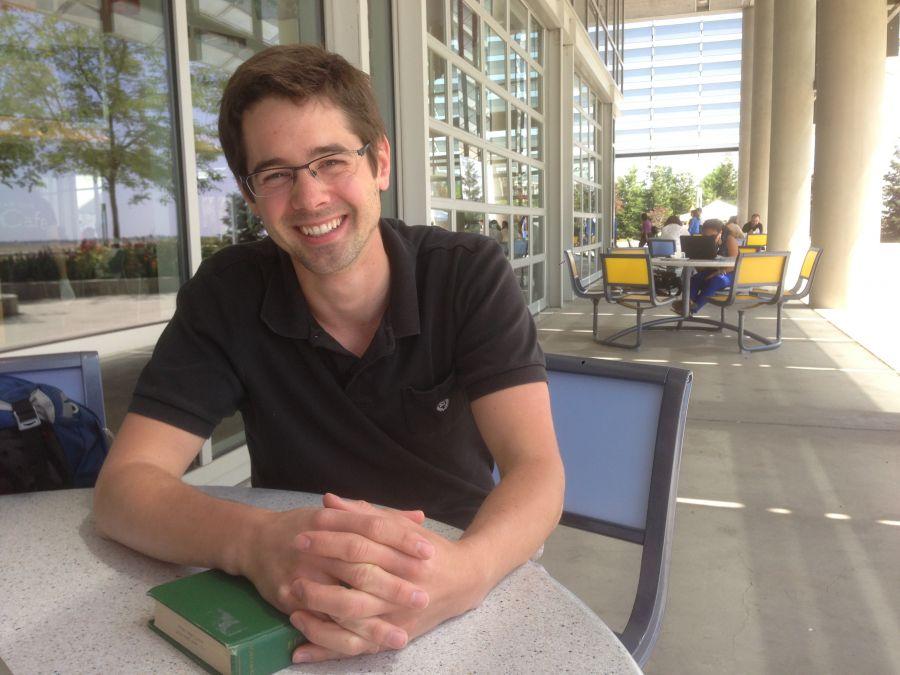 David Vinson sitting at table