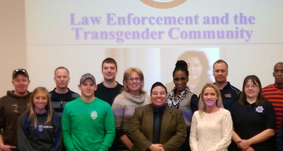 image of Several members of training group on transgender issues.
