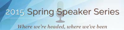 image of the Spring Speaker Series 2015 logo