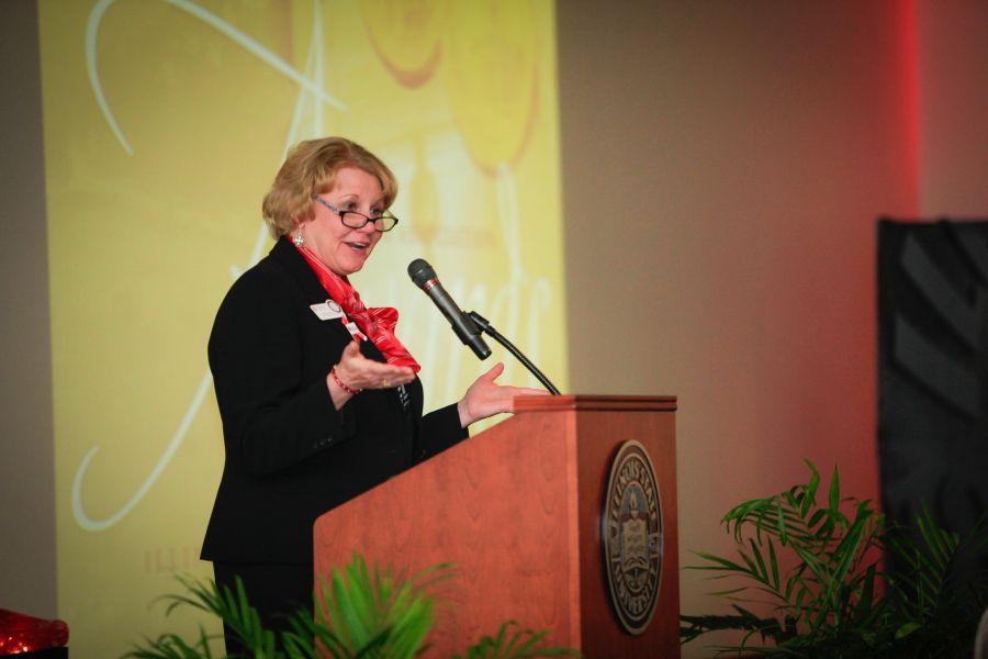 Doris Groves speaks