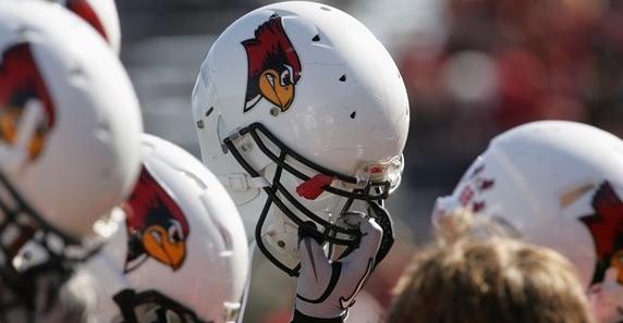 Redbird football helmets